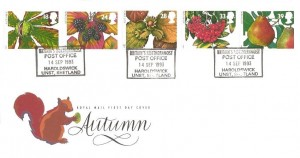 1993 Autumn, Royal Mail FDC, Britain's Northernmost Post Office Haroldswick Unst Shetland H/S