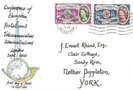 1960 Europa, Hand Illustrated FDC, South Shields C.Durham Cancel
