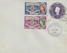 1960 Europa, 3d Pale Blue Postal Stationery FDC, Heathfield Sussex cds