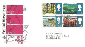 1966 British Landscapes, Philart FDC, Lewes Sussex FDI