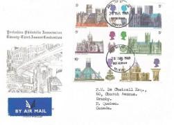 1969 British Cathedrals, Yorkshire Philatelic Association Twenty Third Annual Convention FDC, Rotherham Yorkshire FDI