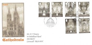 2008 Cathedrals,  A F Trenery Privately Produced FDC, First Day of Issue London EC4 H/S