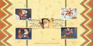 1997 Christmas Bletchley Park Official FDC, Christmas Crackers 150th Anniversary Bangor Wales H/S