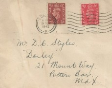 1942 King George VI 1½d Pale Red-Brown, Plain FDC + additional 1d Value, London F Cancel