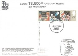 1982 Information Technology, National Postal Museum Card, 26p stamp only, Taunton Somerset FDI