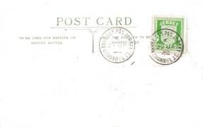 1942 ½d Jersey Arms, A M Holmes Postcard FDC, Havre Des Pas Jersey Channel Is. cds