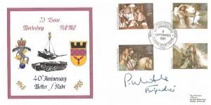 1985 Arthurian Legend, REME 23 Base Workshop Forces Official FDC, 40th Anniversary  23 Base Wksp REME British Forces 2340 Postal Service H/S, Signed