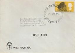 1966 British Technology, Winthrop NV Envelope FDC, 4d Ord stamp only, Kingston Upon Thames Surrey FDI