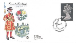 1984 £1.33 Parcel Post Stamp, Stuart FDC, First Day of Issue Windsor Berks.H/S