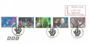 1996 Children's TV, BBC Envelope FDC, Blue Peter Shepherds Bush London W12 H/S +1st Royal Mail Paid Meter Mark