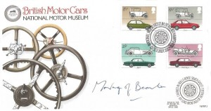 1982 British Motor Cars, National Motor Museum Beaulieu Official FDC, National Motor Museum Hampshire H/S, Signed by Lord Montagu of Beaulieu