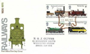 1975 Stockton & Darlington Railway, Post Office FDC, National Postal Museum London EC1 Maltese Cross H/S
