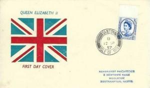1957 Parliamentary Conference, Union Jack FDC, Santon Isle of Man cds