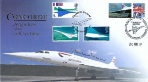 2007 Concorde Design Icon of the 20th Century Cover, Concorde Commercial Services 1976 - 2003 Heathrow Airport Hounslow H/S, Signed by Barbara Harmer First & only Women Concorde Pilot