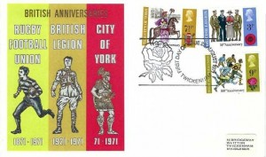 1971 General Anniversaries, Thames Covers FDC, First Day of Issue Twickenham H/S