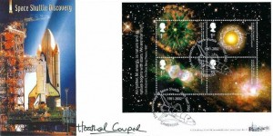 2002 Astronomy, Bradbury Windsor Series Cover No.17 Official FDC, 21st Anniversary Space Shuttle 1981 - 2002 Cambridge (Silver) H/S, Signed by Heather Couper Astronomer