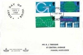 1969 Post Office Technology, Illustrated R J Tregear FDC, Harrow & Wembley FDI