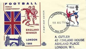 1966 England Winners, Illustrated FDC, London WC FDI