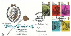 1970 Literary Anniversaries, Sovereign FDC, Portsmouth Hants. FDI
