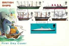 1969 British Ships, Illustrated FDC, Southampton FDI