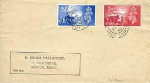 1948 Channel Islands Liberation, Hugh Vallancey FDC, La Rocque Jersey Channel Is. cds