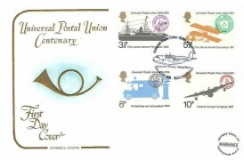 1974 Universal Postal Union, Cotswold FDC,Universal Postal Union 100th Anniversary Imperial Airways Flying Boat Southampton H/S