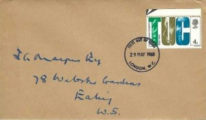 1968 British Anniversaries, set of 4 Caledonian Insurance Company Envelope First Day Covers, London WC FDI