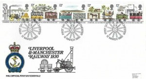 1980 Liverpool & Manchester Railway, Royal National Lifeboat Institute RNLI FDC, First Day of Issue Manchester H/S