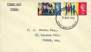 1965 Salvation Army, Bett, Hartley, Huett & Co Ltd. Envelope FDC, London EC FDI