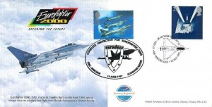 1995 Eurofighter 2000 UK Air Show Debut RAF Fairford Cover, EF 2000 UK Air Debut IAT 95 RAF Fairford H/S, Doubled in 1997 Eurofighter 2000 GEC Marconi Stanmore H/S