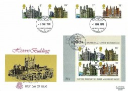 1978 Historic Building, Both stamps & Miniature Sheet on Peter Scot FDC, British Architecture The British Library London WC H/S
