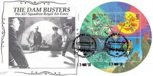 2001 The Weather Miniature Sheet, Cambridge Official FDC, The Dam Busters 617 Squadron Scampton Lincoln H/S