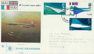 1969 Concorde, Rose Bearings FDC, Filton Bristol FDI