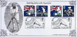 1988 Australian Bicentenary, Bradbury Sporting Links with Australia, Great Britain Cricketing Links The Oval Kennington London SE11 H/S