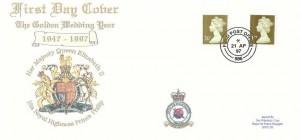 1997 Golden Wedding, RAF Bruggen FDC, Field Post Office 986