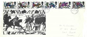 1966  Battle of Hastings, Illustrated FDC, 6 x 4d stamps only, Hastings FDI