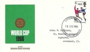 1966 England World Cup Winners, GPO FDC, Liverpool FDI