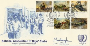 1985, Famous Trains, NABC Official FDC, National Association of Boys' Clubs Diamond Jubilee Blenheim Palace Woodstock H/S