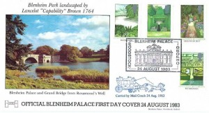 1983 British Gardens Havering Official FDC, Blenheim Palace Woodstock Oxford H/S