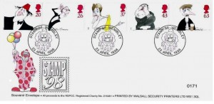1998 Comedians, Walsall Security Printers Official FDC, Stamp 98 Wembley H/S