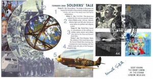 1999 Soldiers' Tale, Steven Scott Millenium Series Platinum No.10 Official FDC,D Day Landings 1944 Victoria Way London SE16 H/S. Signed by Kenneth Griffith Actor & TV Personality