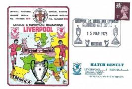 1978 League & European Champions Liverpool V Benfica Dawn Football Cover, LIverpool FC and European Champions into Europe Liverpool H/S