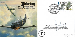 1998 Adlertag 13th August 1940 JC(CC)54 Cover, Operation Eagle Attack Adlerangriff Guernsey Post Office H/S, Signed by Wing Commander John Young AFC