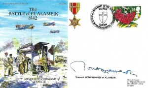 1994 Royal Signal Corps Museum The Battle of EL Alamein Cover, 52nd Anniversary of the Battle of Alamein British Forces 2413 Postal Services H/S, Signed by Viscount Montgomery of Alamein (Son)