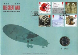 2017 The Great War, Royal Mail / Mint Official £2 Coin FDC, Royal Flying Corps The Great War Centenary Upavon Pewsey H/S