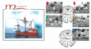 1996 Football Legends, R. Higgs Official FDC, Completion of First Sea Trails Matthew Bristol H/S