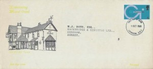 1969 Post Office Technology, Interesting Rural Oxted FDC, 5d stamp only, London SE1 FDI