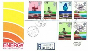 1978 Energy, Registered Post Office FDC, Coalville Leicester cds