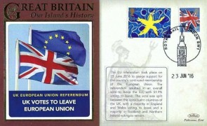 2016 UK Votes to Leave European Union, Benham Cover, Royal Mail London SW1 H/S