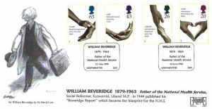1998 National Health Service, Havering Official FDC, William Beveridge 1879 - 1963 Father of the National Health Service Westminster H/S